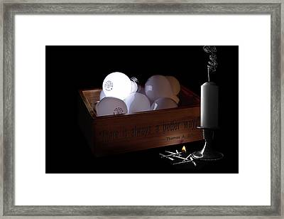 A Better Way Still Life - Thomas Edison Framed Print by Tom Mc Nemar