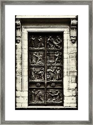 A Biblical Door Framed Print by Georgia Fowler