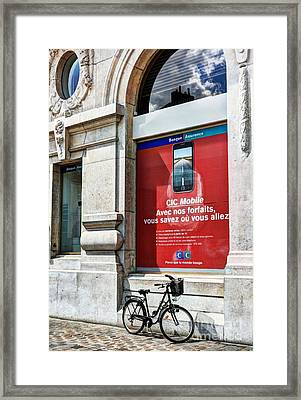 A Bicycle In Dijon Framed Print