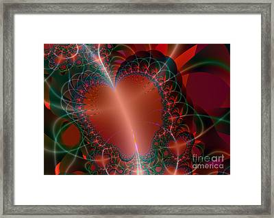 Framed Print featuring the digital art A Big Heart by Ester  Rogers
