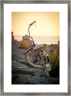 A Bike And Chi Framed Print by Peter Tellone