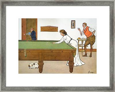 A Billiards Match Framed Print