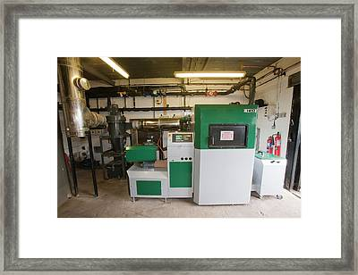 A Biofuel Boiler Framed Print by Ashley Cooper