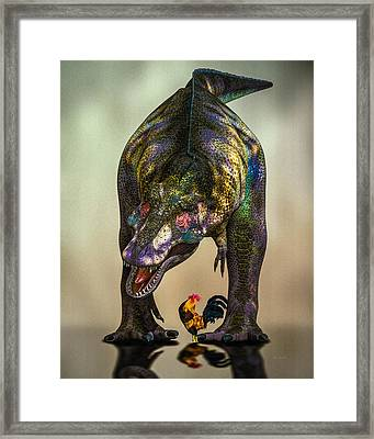 A Bird Are You Crazy Bro Framed Print by Bob Orsillo