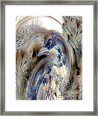 A Bird In The Bush Framed Print by Doris Wood