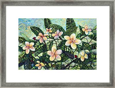 A Bird In The Hand... Framed Print by Jen Norton