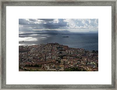 A Bird's-eye View Of Naples Italy Framed Print