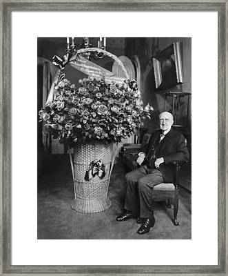 A Birthday Floral Bouquet Framed Print by Underwood Archives