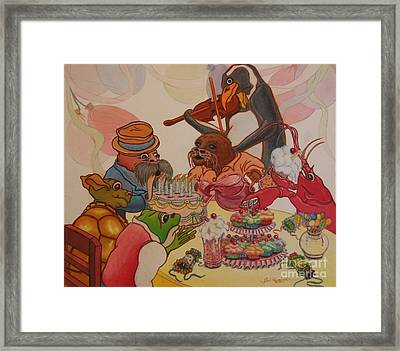A Birthday Surprise Framed Print