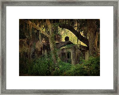 A Bit Of Old Florida In Spring Creek Framed Print by Carla Parris