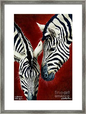 A Black And White Affair... Framed Print