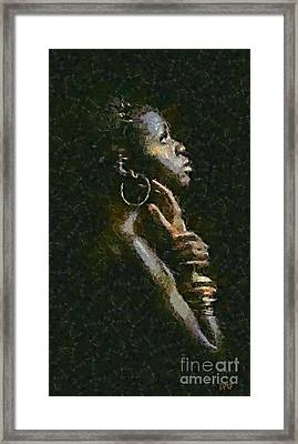 A Black Challenge Framed Print by Dragica  Micki Fortuna