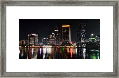 A Black Night In Jacksonville Framed Print by Frozen in Time Fine Art Photography
