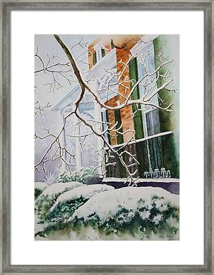 A Blanket Of Snow Framed Print