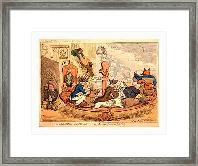A Block For The Wigs Or, The New State Whirligig, Gillray Framed Print by English School