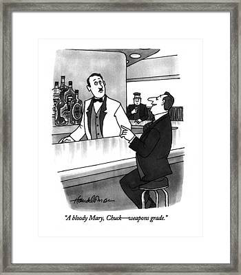 A Bloody Mary Framed Print