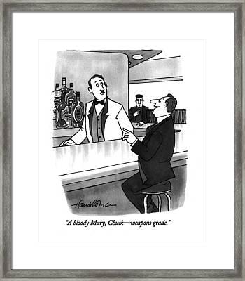 A Bloody Mary Framed Print by J.B. Handelsman