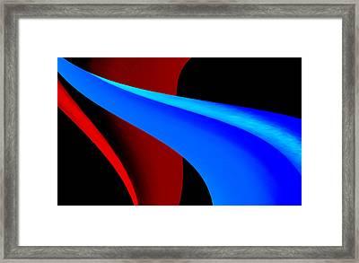 Blue Path Framed Print