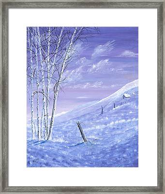 A Blue Winter Framed Print