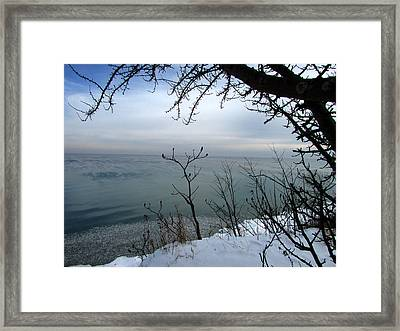 A Blue With A View Framed Print by Kimberly Mackowski