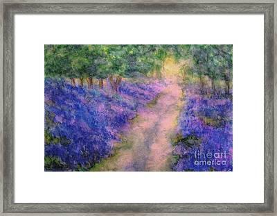 A Bluebell Carpet Framed Print by Hazel Holland