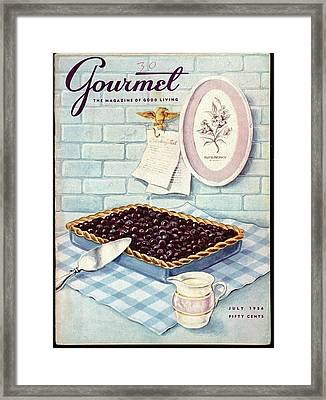 A Blueberry Tart Framed Print
