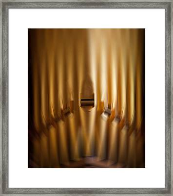 A Blur Of Pipes Framed Print
