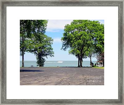 A Boat Ride At Marblehead Framed Print by Jackie Bodnar