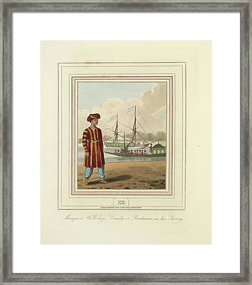 A Boatman Framed Print by British Library
