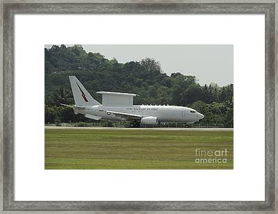 A Boeing E-7a Wedgetail Of The Royal Framed Print by Remo Guidi