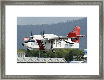 A Bombardier Aerospace Cl-415 Mp Framed Print by Remo Guidi
