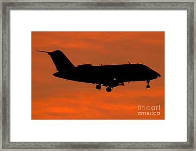 A Bombardier Challenger Cl-600 Private Framed Print by Luca Nicolotti
