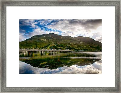 Framed Print featuring the photograph A Bonny Day In Dornie Scotland by Trever Miller
