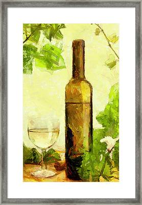 A Bottle Of Wine Framed Print by Yury Malkov