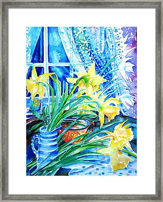 A Bouquet Of April Daffodils  Framed Print by Trudi Doyle
