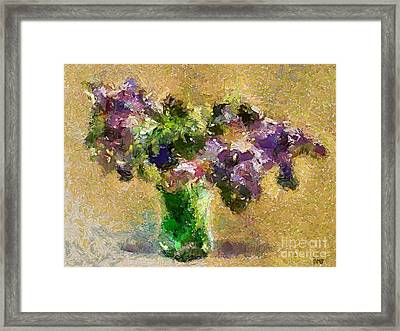 A Bouquet Of Lilac Framed Print by Dragica  Micki Fortuna