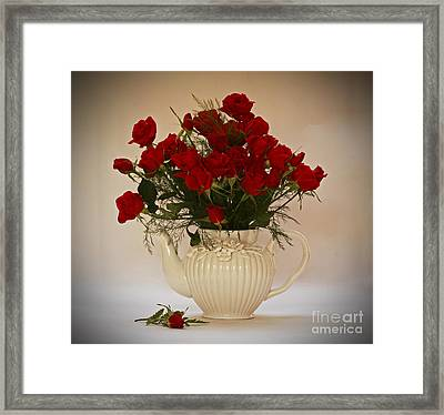 A Bouquet Of Red Rose Tea Framed Print by Inspired Nature Photography Fine Art Photography