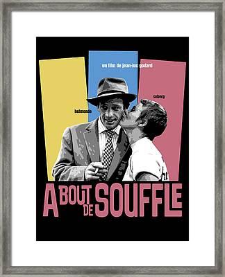 A Bout De Souffle Movie Poster Framed Print by Douglas Simonson