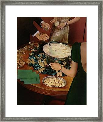 A Bowl Of Eggnog Framed Print