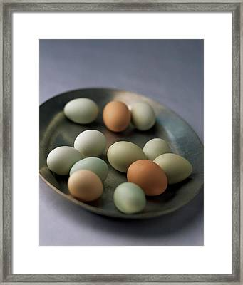 A Bowl Of Eggs Framed Print by Romulo Yanes