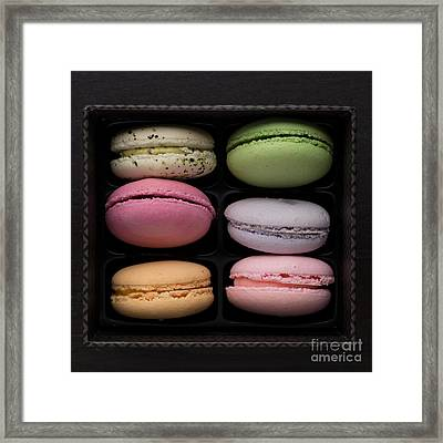 A Box Of French Macaron Cookies Framed Print by Edward Fielding