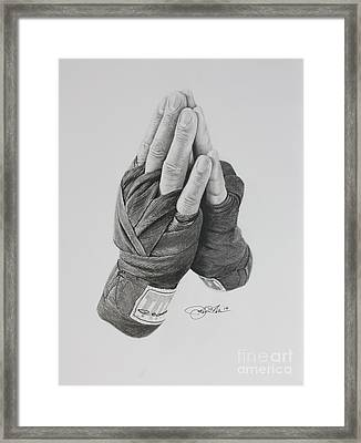 A Boxer's Prayer Framed Print