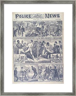 A Boxing Match Framed Print by British Library