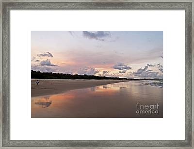 A Boy And A Frisby Framed Print by Nicole Doyle