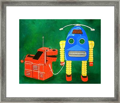 A Boy And His Dog Framed Print by Karyn Robinson
