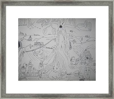 A Boy's Dream Framed Print