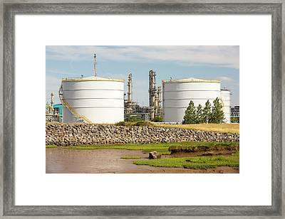 A Bp Chemical Plant At Salt End Framed Print