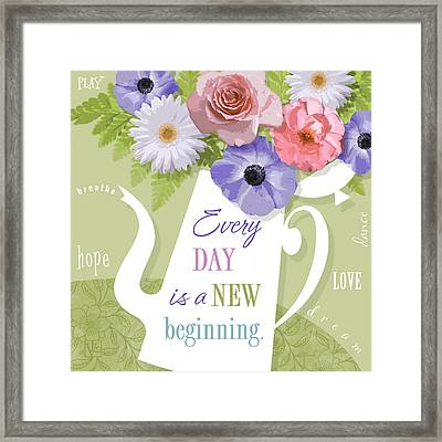A Brand New Day Framed Print