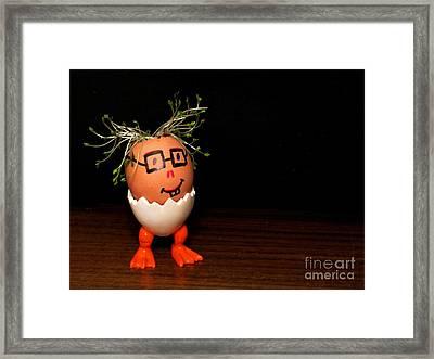 A Brave Eggman. Easter People Series Framed Print by Ausra Huntington nee Paulauskaite