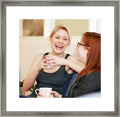 A Break Between Lectures Framed Print